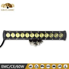 auto spare part 60w led work light bar used cars in dubai, off road led single row light bar for vehicle heading