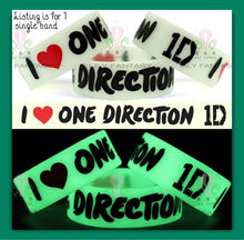 china 2013 new style on market fashion one Direction 1D silicone bracelet glow in the dark