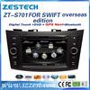 ZESTECH 7 inch 2 din touch screen car stereo for suzuki swift headunit navigator