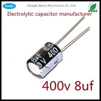 capacitor manufacturer wholesale Aluminium Electrolytic Capacitor 400v 8uf 10*20
