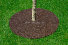 2015 hot sale made in china double color 24'' round tree ring mat