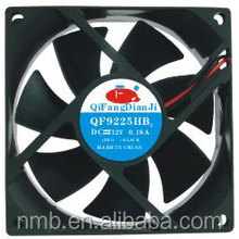 QiFang 9225 dc cooling fan 92x92x25 brushless fan motor 12v cooler 92mm fan