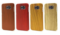 Luxury Ultra Thin Slim Wood Grain PC Case Cover For iPhone/Samsung , Wooden Cover Case For iPhone6 /Samsung Note5