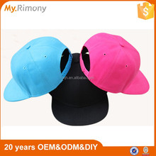 Adjustable caps children 6 panel plain snapback cap hats wholesale