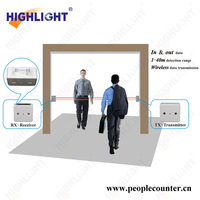 Highlight CE approved HPC005 passenger counter with LCD display bi directional electronic infrared people counter