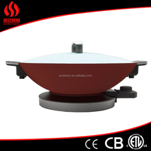 red coating big electric wok