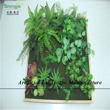 Sjzpw26 verticale piantatore giardino modulare, indoor impianto artificiale muro, muro vegetale verde di plastica