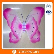Pink grenadine handmade butterfly wings, wholesale fairy wings, angel wing