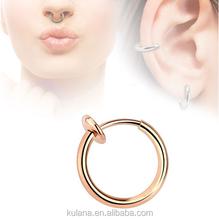 Surgical Steel Indian Nose Ring Piercing Body Jewelry Fake Monroe Piercing