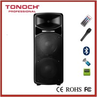 Functioned with Long Battery Life, Dual 15 Inch, LCD Screen Movable PA Speaker