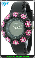 China wholesale watch kontas with flower different colors/style
