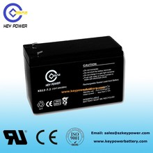 Over 15 years Rechargeable lead acid ups battery manufacturer of controller battery 12V 7Ah