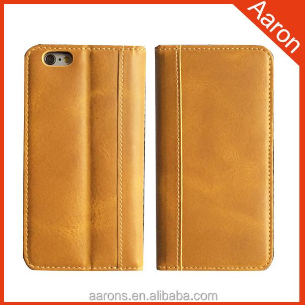Para o caso do iphone caso de telefone celular caixa do telefone móvel de couro italiano