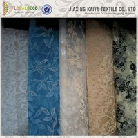 Flocked Jacquard Polyester Sheer Embroidered Organza