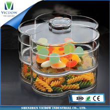 Multifunctional Customize the right shape acrylic food box for wholesales etest