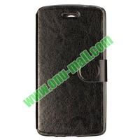 Crazy Horse Texture Foldable Flip Leather case for lg g3 case D850