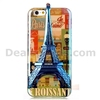 3D Eiffel Tower Blue-ray IMD Soft TPU Case for iPhone 6/ 6S with a Strap - City View