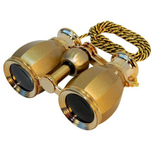 2015 JAXY High Magnification 4 x 30 Opera Glass Binocular Antique Golden opera binoculars