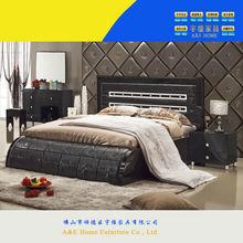 foshan UV Light Paint Royal Furniture Antique black bedroom furniture