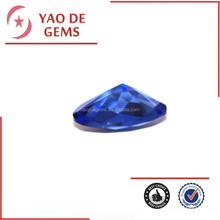 Lab Created Tanzanite Checker Cut Oval Glass Gems Cz Stone Jewelry Accessories