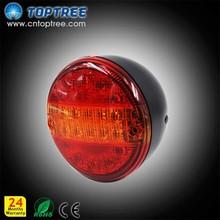 E-MARK Universal LED round tail brake light for trailers stop lamp red brake light