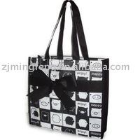 fashion pvc coated non- woven gift bag WZ6053