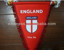 custom triganle football soccer pennant flag