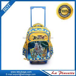 Removable 3 wheels new design kids trolley school bag