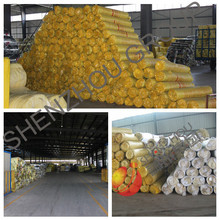 fireplace insulation blanket glass wool rolls with aluminium foil for roof insulation