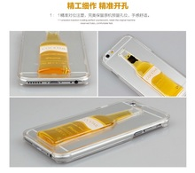 ForIphone6 cocktail wine cup Apple mobile phone shell sand shell 6 beer liquid mobile phone protective sleeve