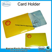 Screen Printing Yellow Vinyl one pocket card holder