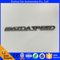 Mazdaspeed Car ABS Chrome 3D Custom Letter Sticker Badge Emblem