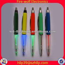 2014 China Supplier New Style Colourful Led Flashing novelty ball pen