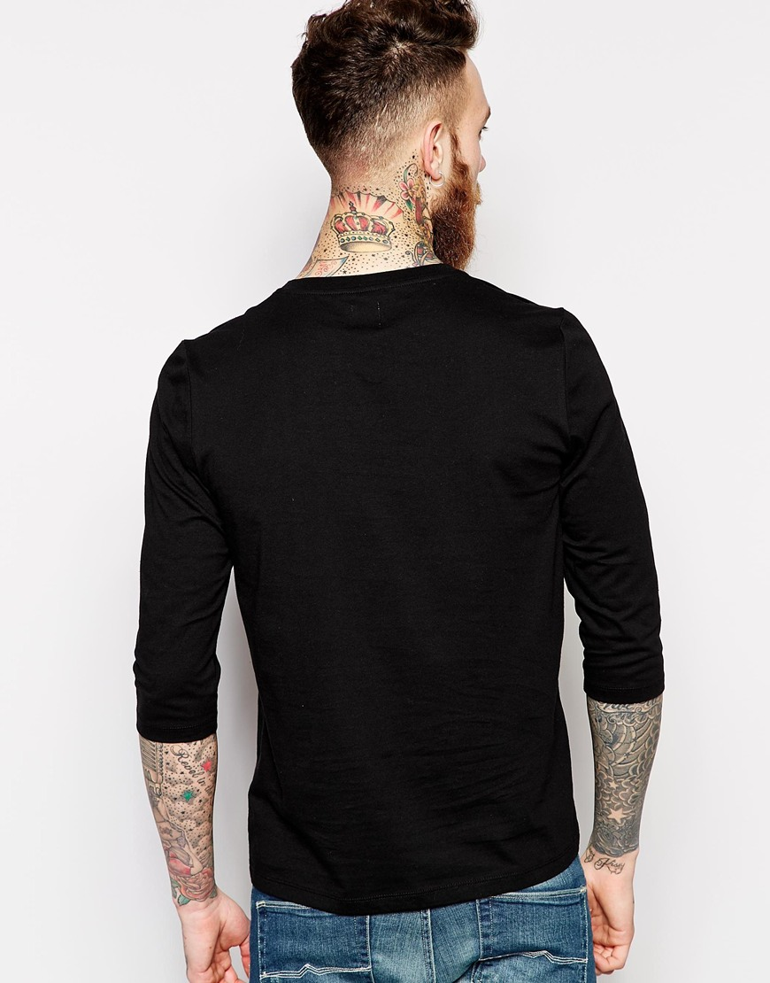 Blank t shirt with notch neck cotton fabric mens casual for Blank mens t shirt