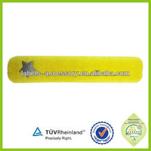 Stylish natural materials private 2015 reflective rubber pvc label
