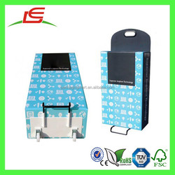 Q1226 China Corrugated Cardboard Foldable Shopping Trolley With Plastic Wheels