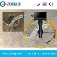 drain snake camera with flexible testing cable
