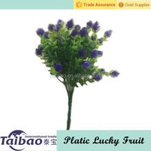 Outdoor decoration artificial lucky fruit bush mini plastic grass flower