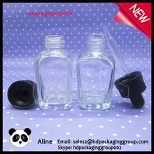 wholesale empty perfume bottle euro square glass dropper bottle poined dropper