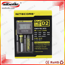 Battery Charger LCD Display Universal Nitecore Charger +Retail Package with Charging Cable nitecore d2