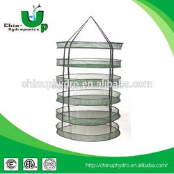 Hydroponic nylon mesh drying net for herb plant drying,dry net collapsible quick cure rack for drying