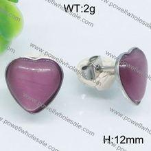 Plain design oversized heart huggie earrings