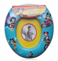 PVC printing cartoon designs kids/baby toilet seat for children