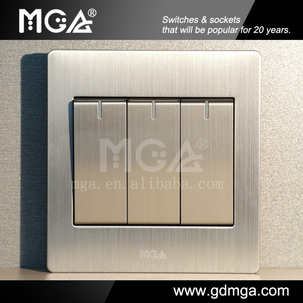 Wall Switch 3 Gang One Way Or Two Way Types Of Electrical Switches ...