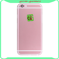 For iPhone 6s glossy finish rose gold housing back cover replacement for iPhone6S