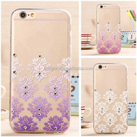 Diamond bling snowflake soft TPU back case cover for iphone 5 5s 6 6 plus
