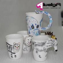 Novelty Design 3D Animal Shaped Drinking Mug Cup