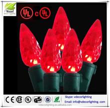 ul listed C6 Strawberry Mini Lights Commercial Grade LED Christmas Lights for USA