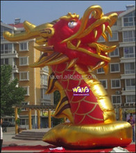 Giant outdoor event custom inflatable/7.5M/Red inflatable dragon