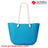 beach bag Wholesale,New Product Silicone Handles handbag beach bag
